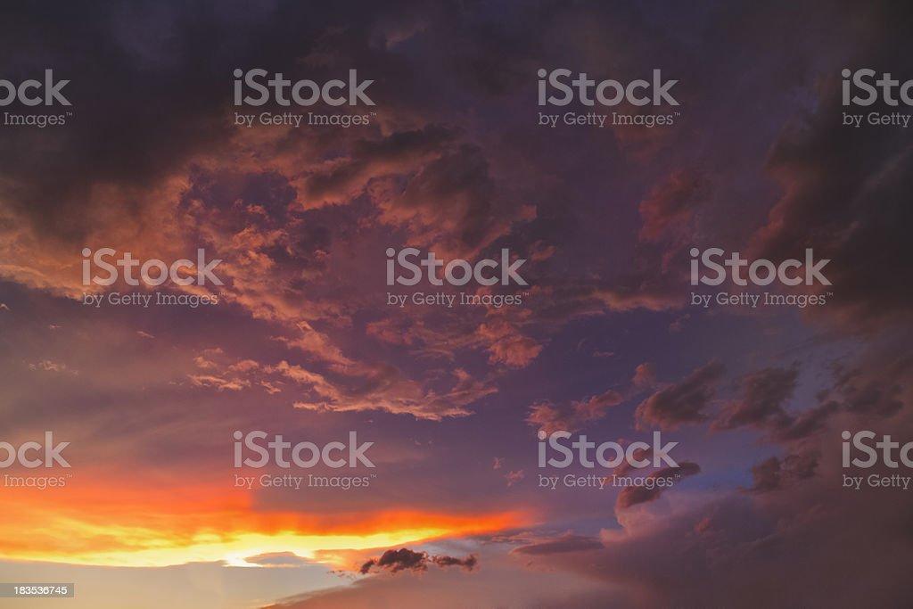 brooding sunset royalty-free stock photo