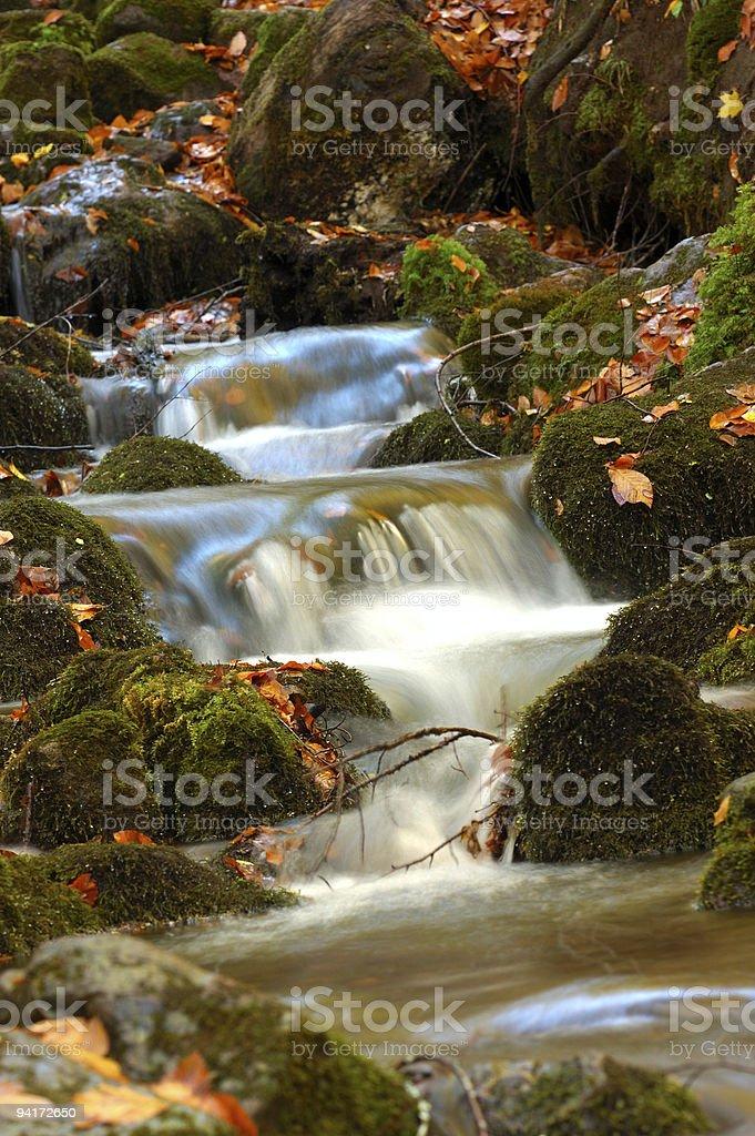 Brook and rocks royalty-free stock photo