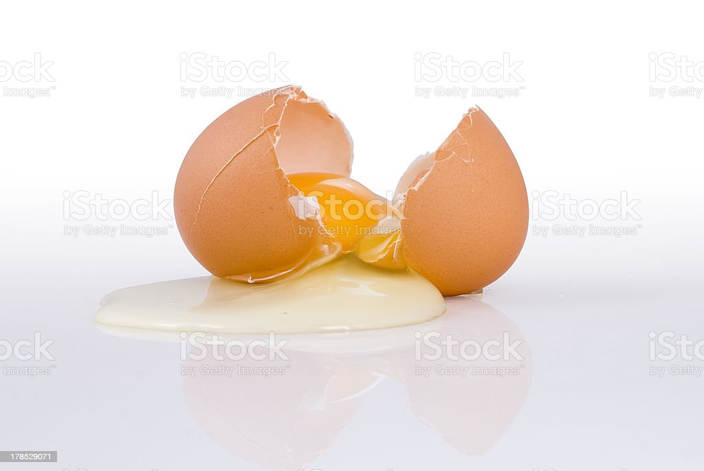 Brooken egg royalty-free stock photo