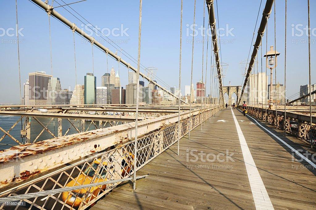 Brookling Bridge, New York City royalty-free stock photo