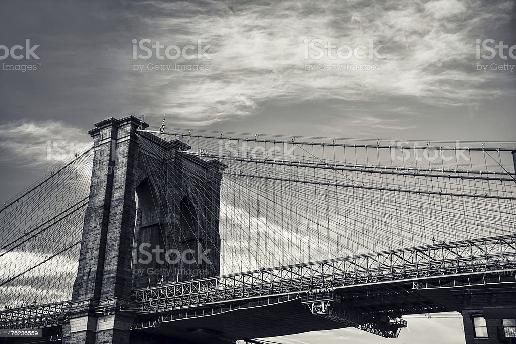 Brookling Bridge royalty-free stock photo