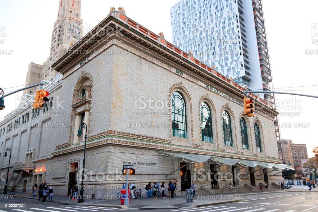 Brooklyn Academy of Music stock photo