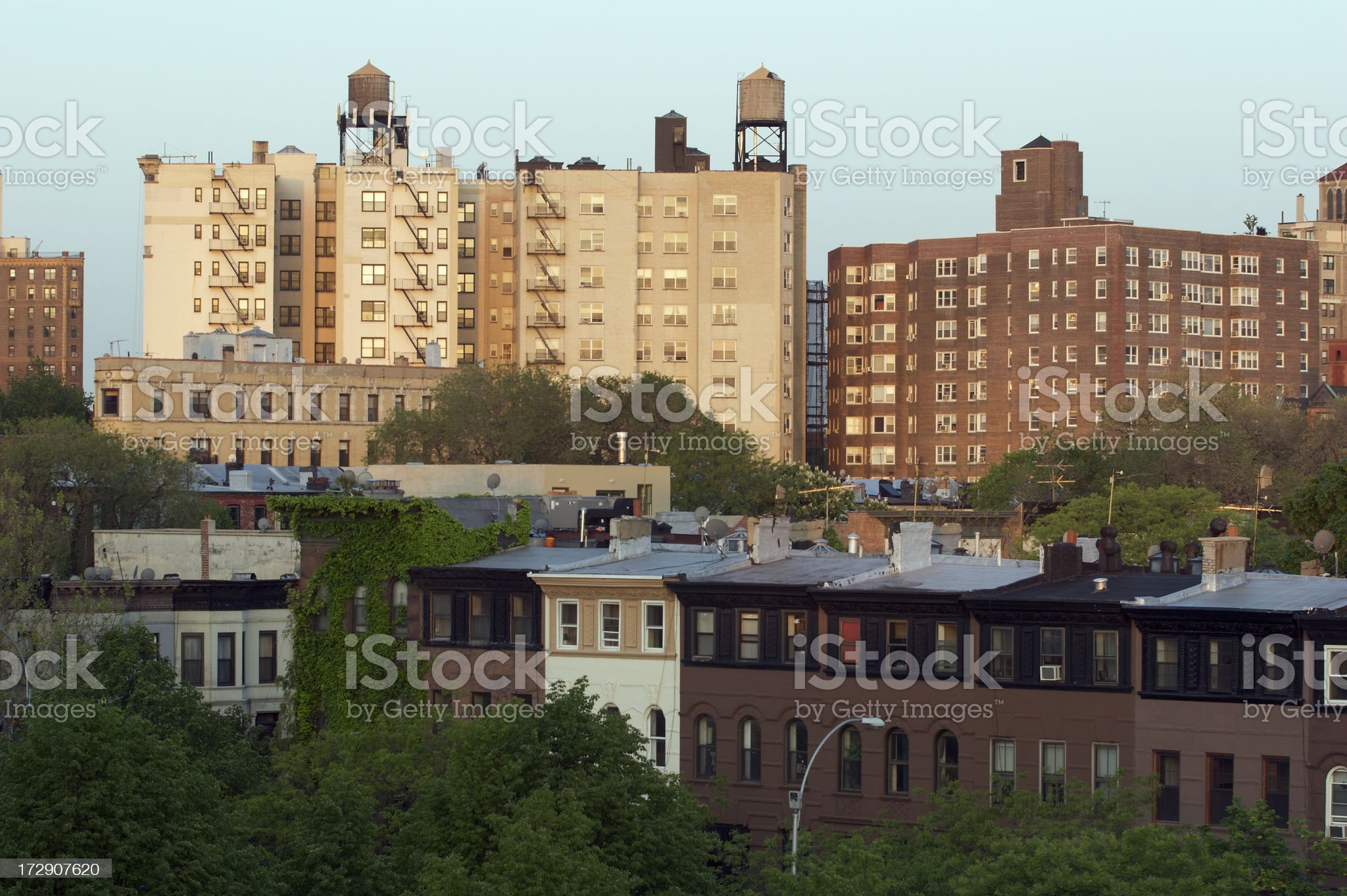 Brooklyn Apartments royalty-free stock photo