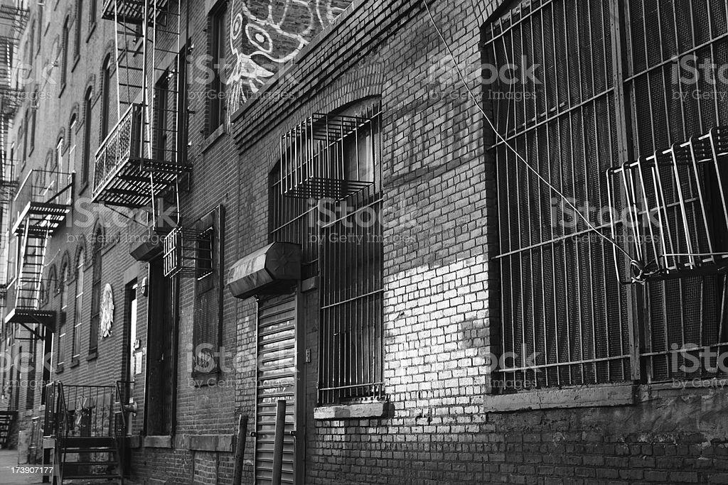 Brooklyn Backstreet Fire Escapes royalty-free stock photo
