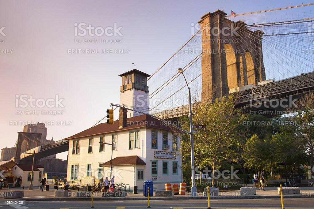 Brooklyn Bridge and DUMBO royalty-free stock photo