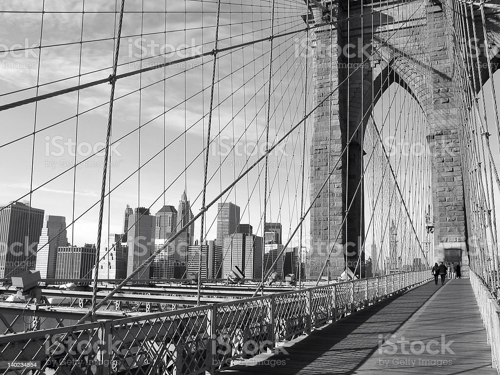 Brooklyn Bridge and Skyline royalty-free stock photo