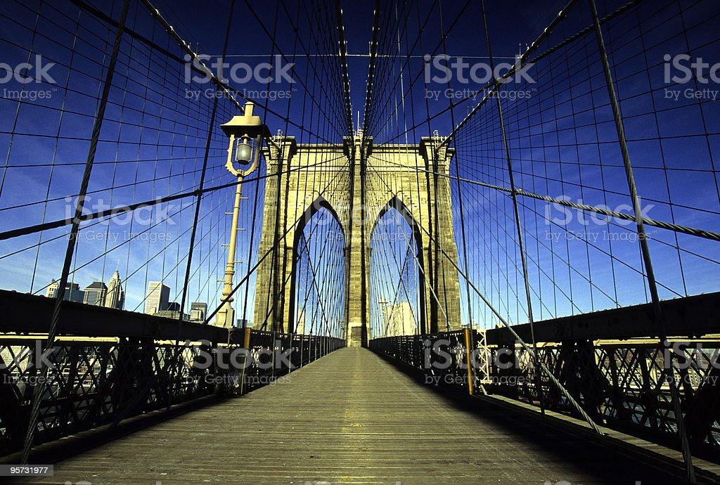 Brooklyn Bridge at Dawn, New York, USA royalty-free stock photo