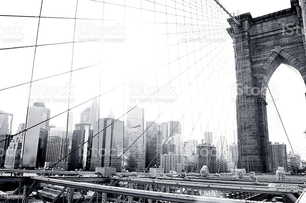 Brooklyn Bridge Black and White royalty-free stock photo