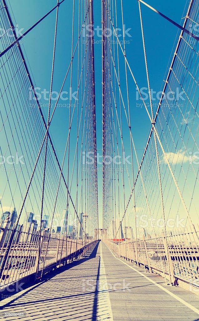 Brooklyn Bridge Cables NYC New York stock photo