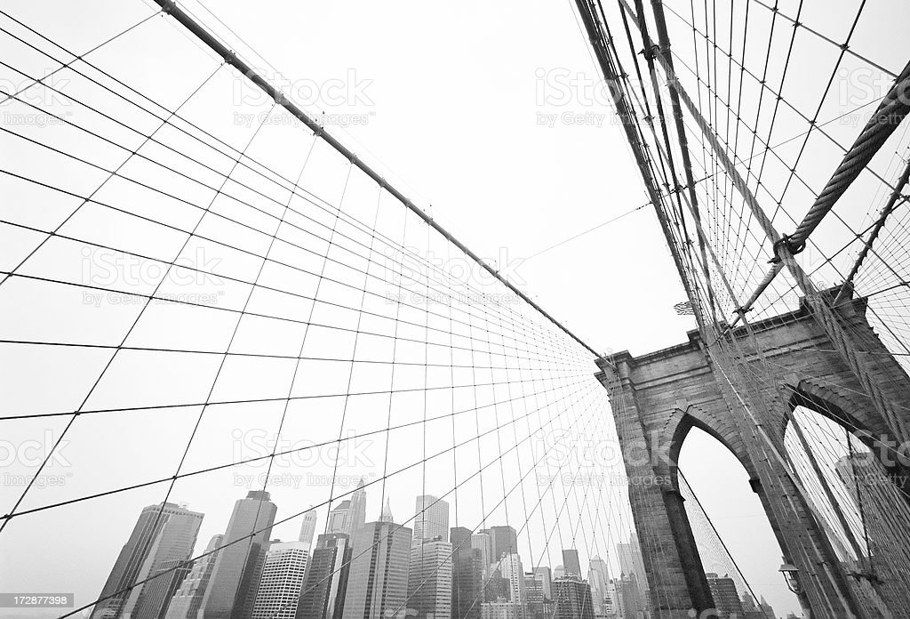 Brooklyn Bridge Cityscape royalty-free stock photo