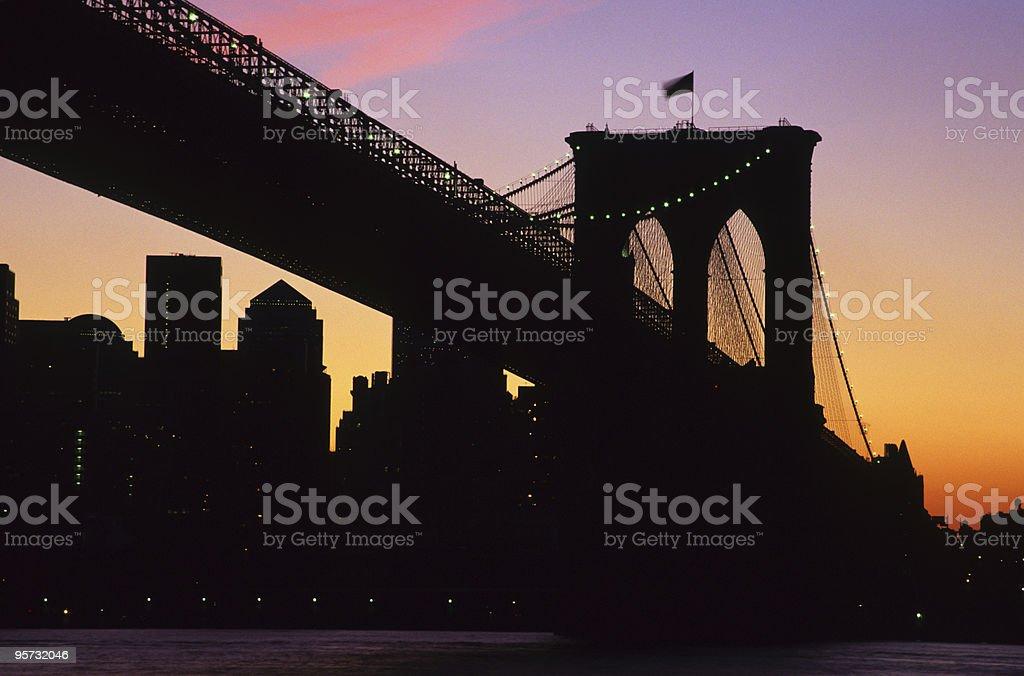 Brooklyn Bridge Close-Up, New York, USA royalty-free stock photo