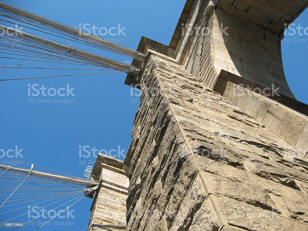 Brooklyn Bridge Construction royalty-free stock photo