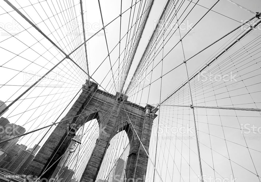 Brooklyn Bridge Detail in New York City royalty-free stock photo