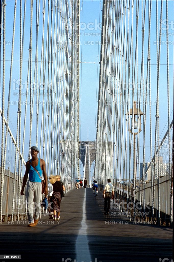 Brooklyn Bridge II. stock photo