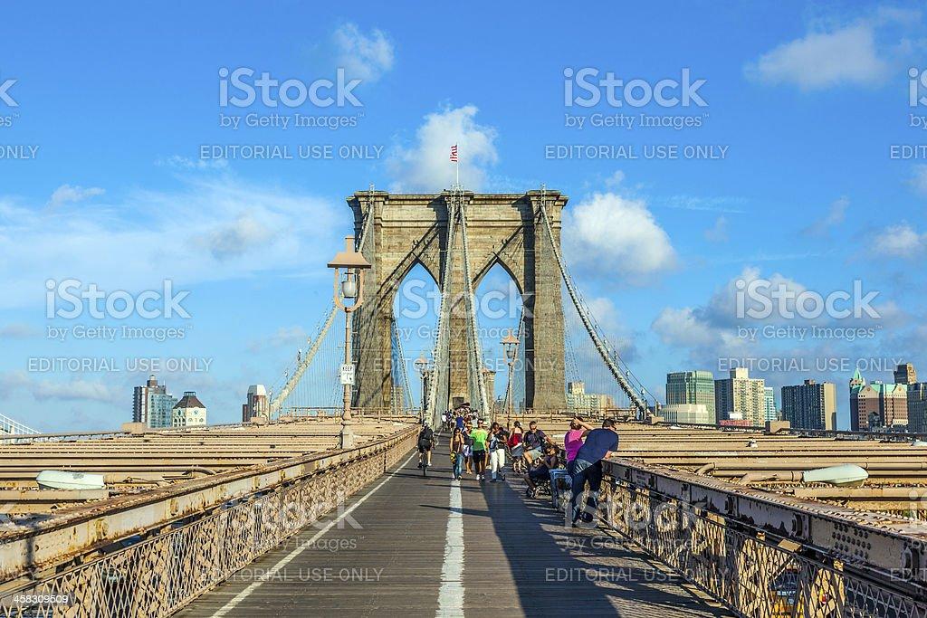 Brooklyn Bridge in New York royalty-free stock photo