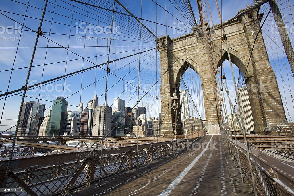 Brooklyn Bridge in New York royalty-free stock photo