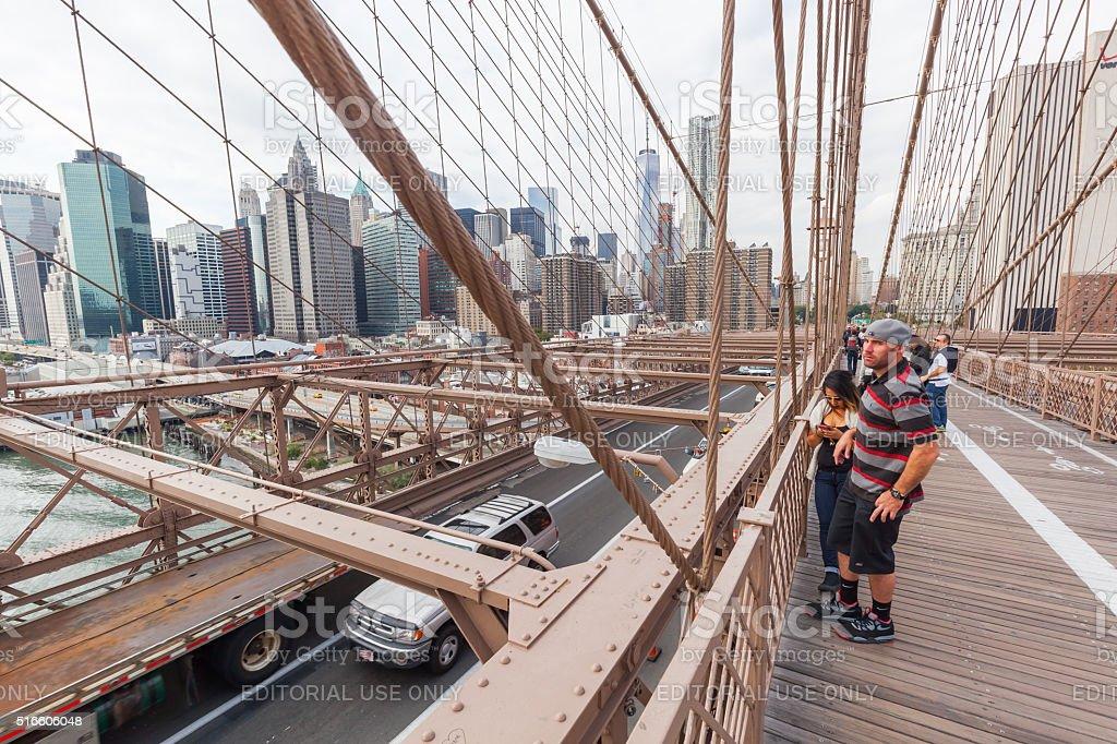 Brooklyn Bridge in NYC stock photo