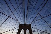 Brooklyn Bridge in uprisen angle