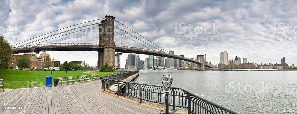 Brooklyn Bridge Manhattan Dumbo royalty-free stock photo