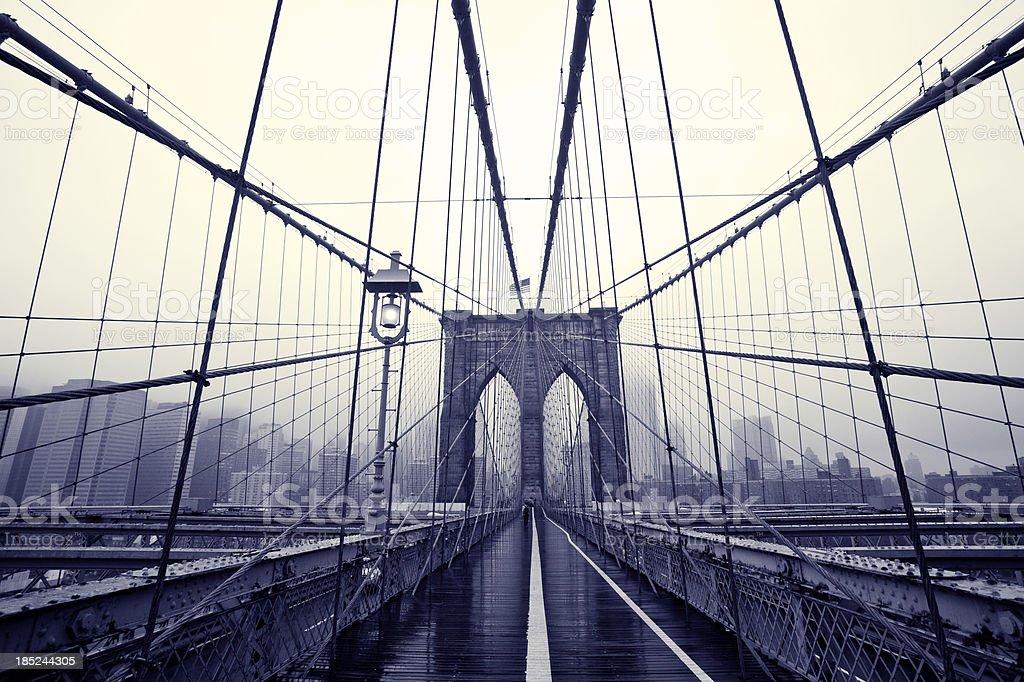 Brooklyn bridge Manhattan NY royalty-free stock photo