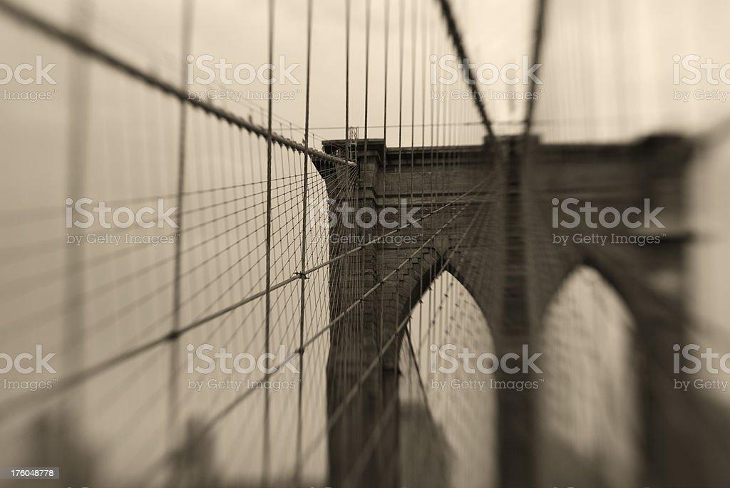 Brooklyn Bridge, Manhattan, USA royalty-free stock photo