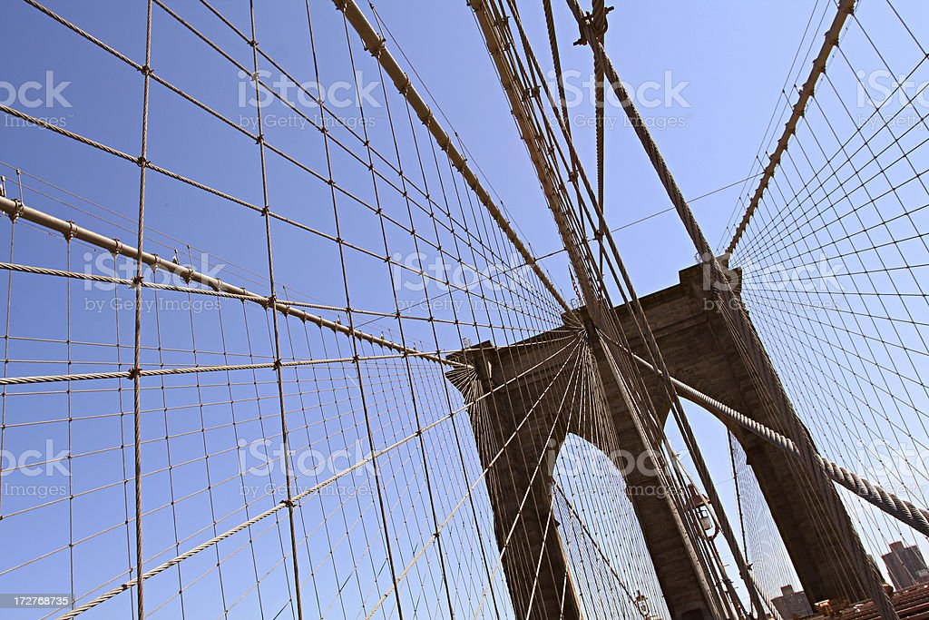 Brooklyn Bridge, New York City, NY royalty-free stock photo