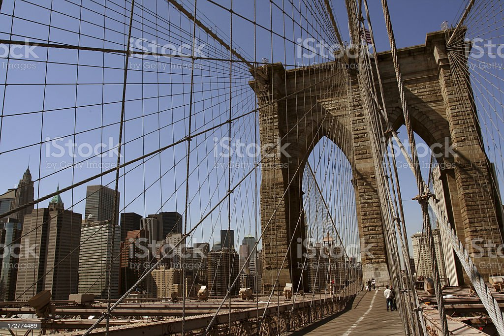 Brooklyn Bridge, New York City, NY royalty-free stock photo