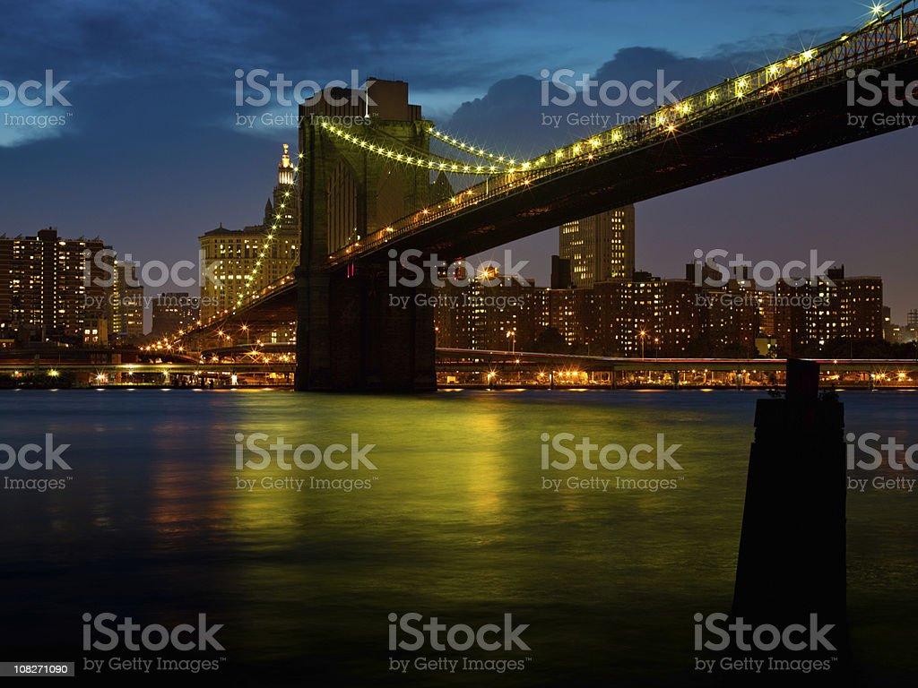 Brooklyn Bridge New York City royalty-free stock photo
