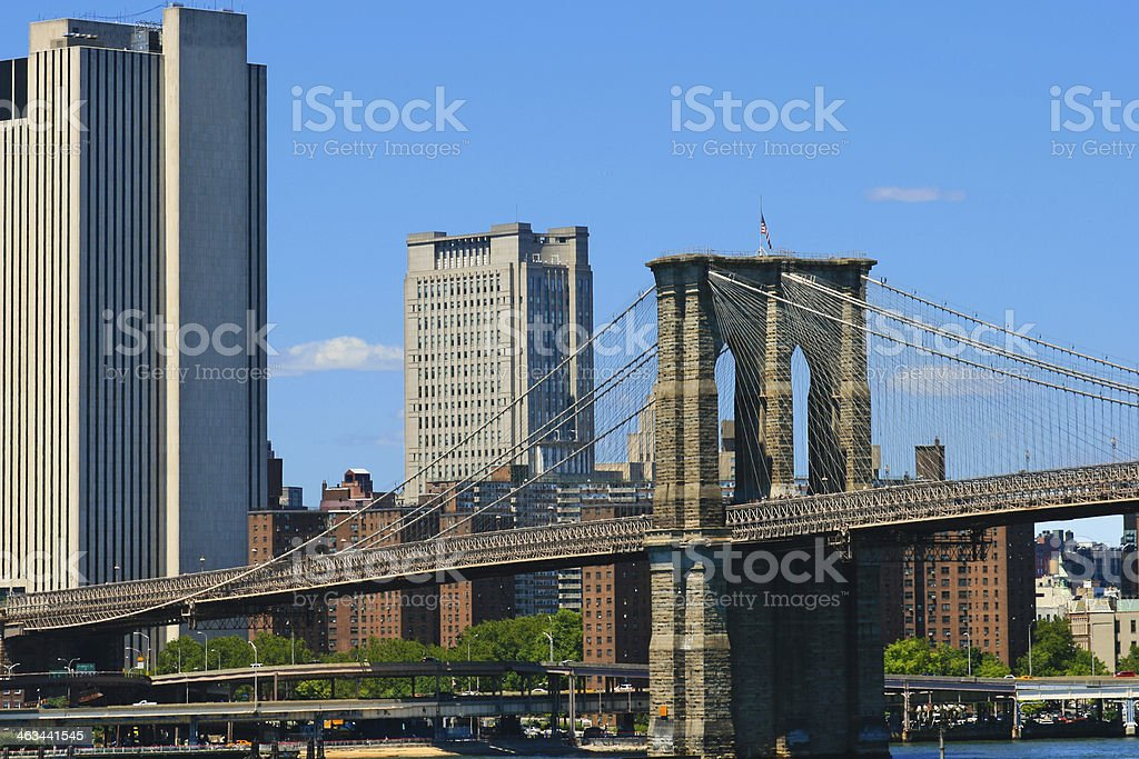 Brooklyn Bridge, New York City. royalty-free stock photo