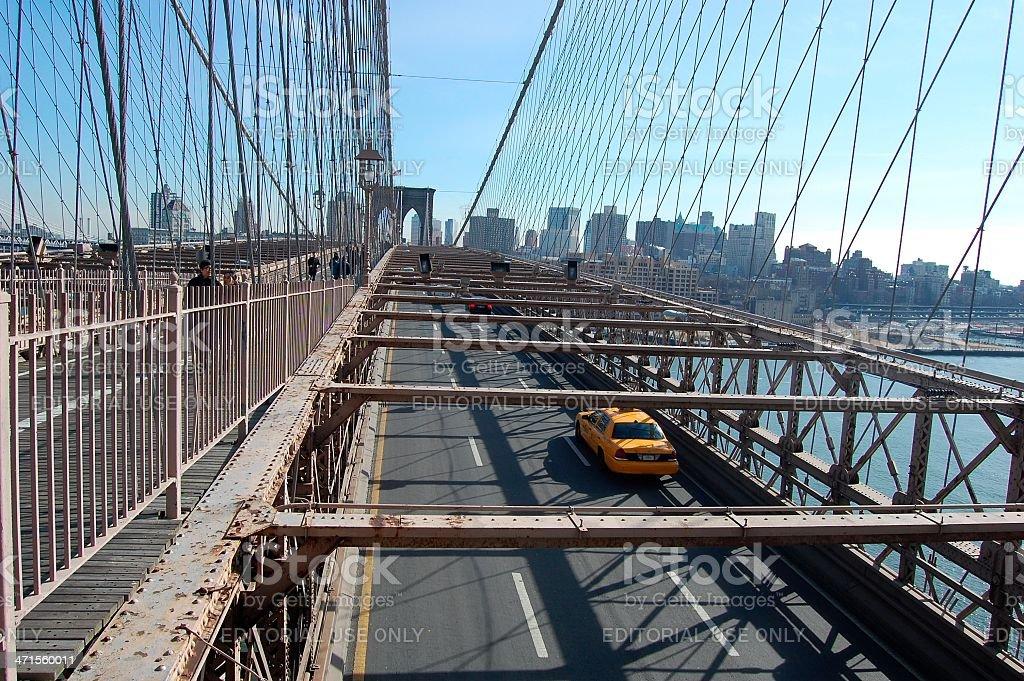 Brooklyn bridge, New York City royalty-free stock photo