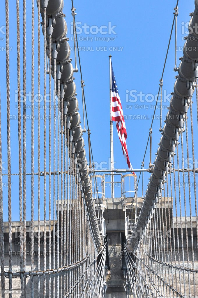 Brooklyn Bridge, New York City stock photo
