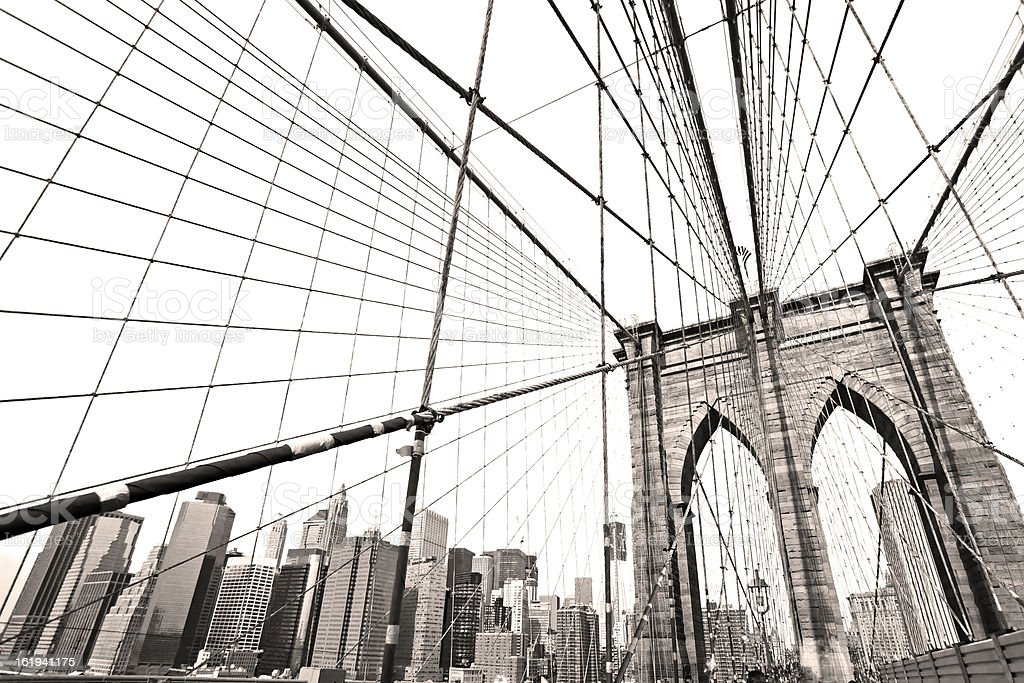 Brooklyn Bridge, New York City. USA. stock photo
