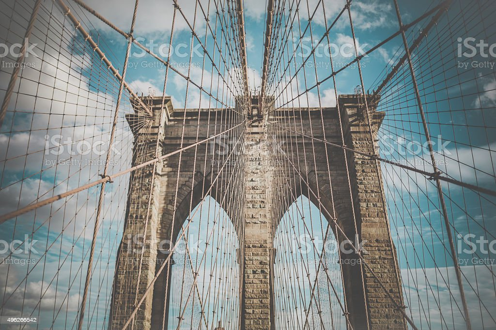 Brooklyn Bridge, New York City, USA stock photo
