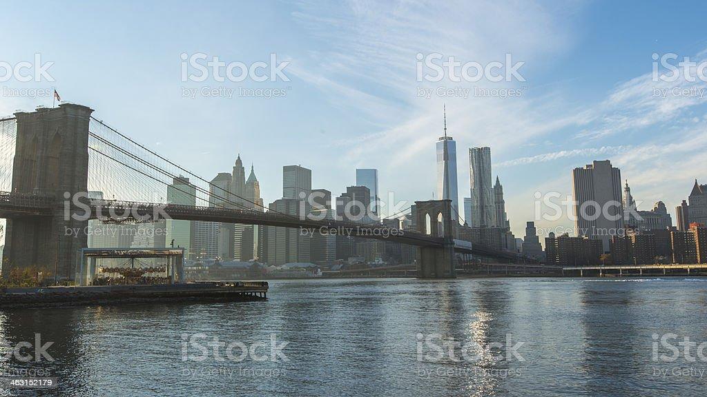 Brooklyn Bridge, New York, Manhattan, USA royalty-free stock photo
