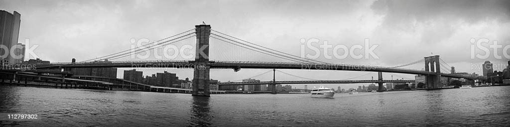 Brooklyn Bridge New York Panorama Stitch royalty-free stock photo