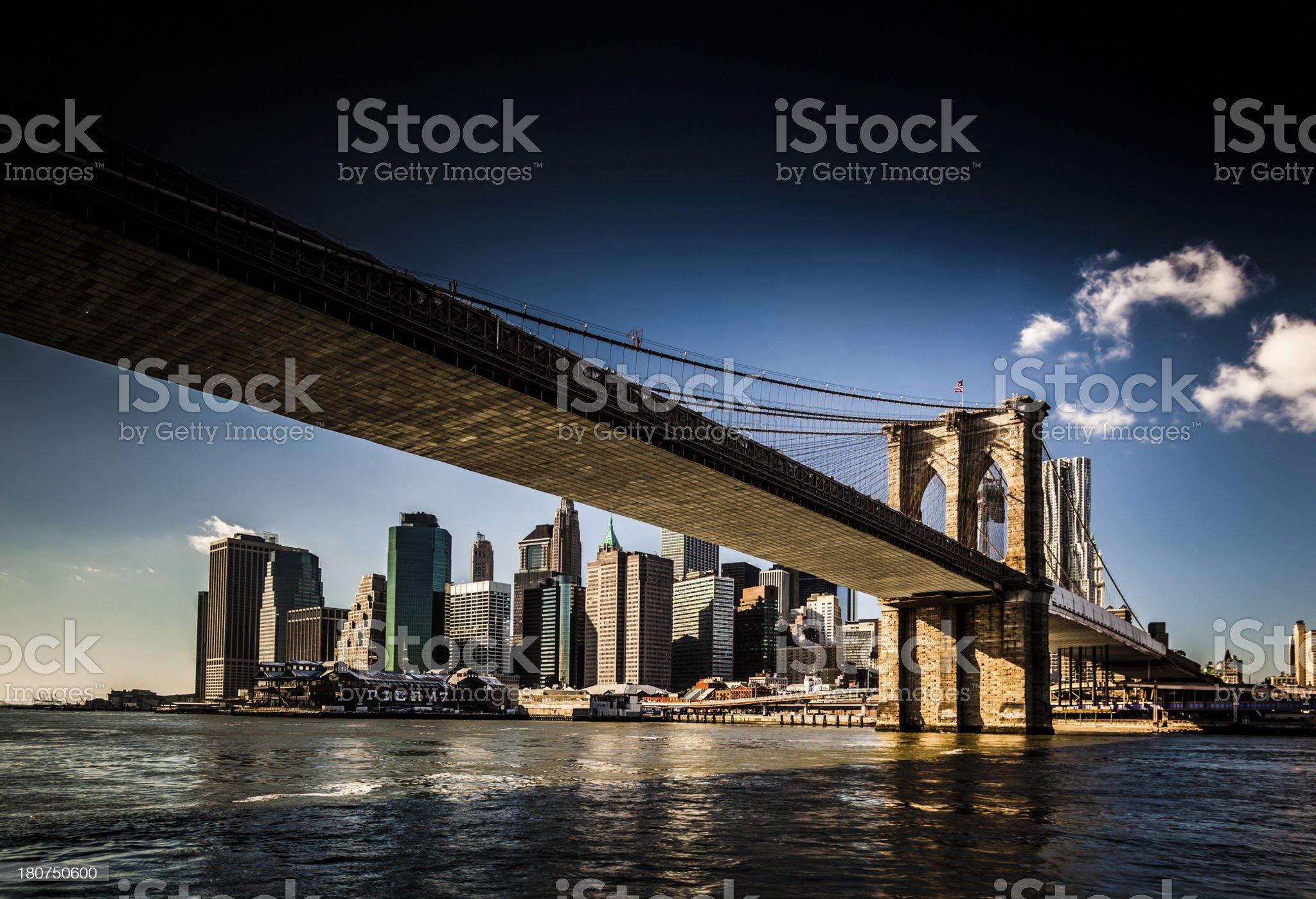 Brooklyn Bridge, New York royalty-free stock photo