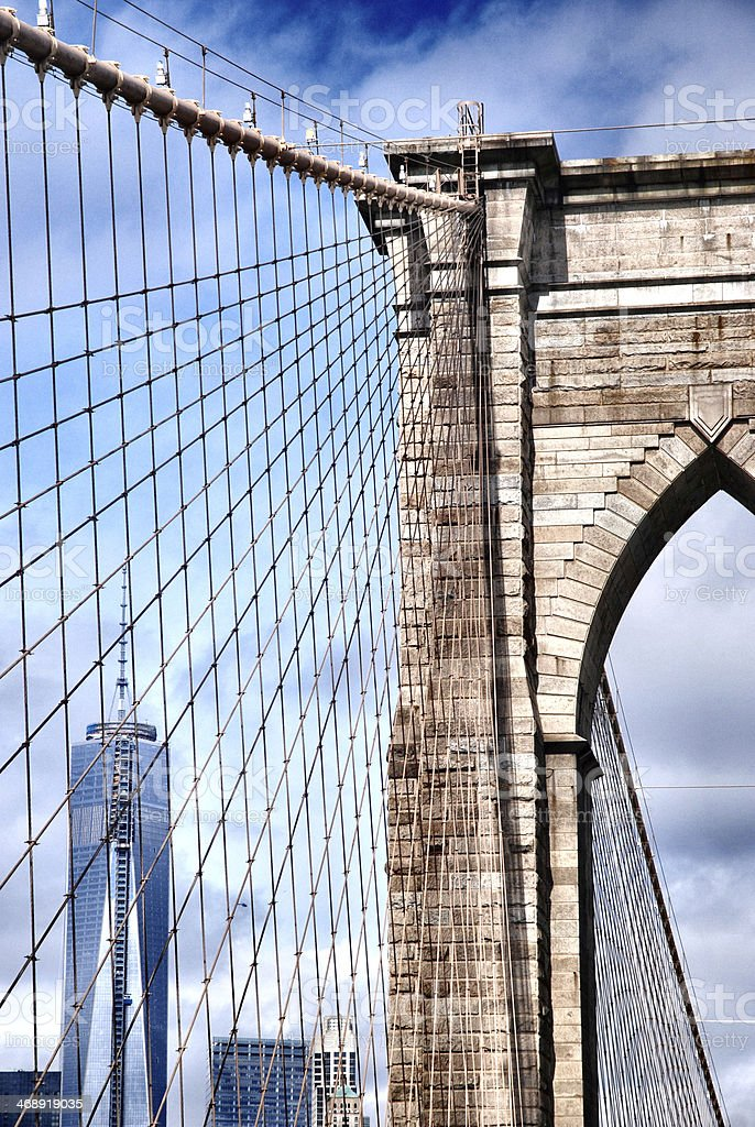 Brooklyn Bridge, New York royalty-free stock photo