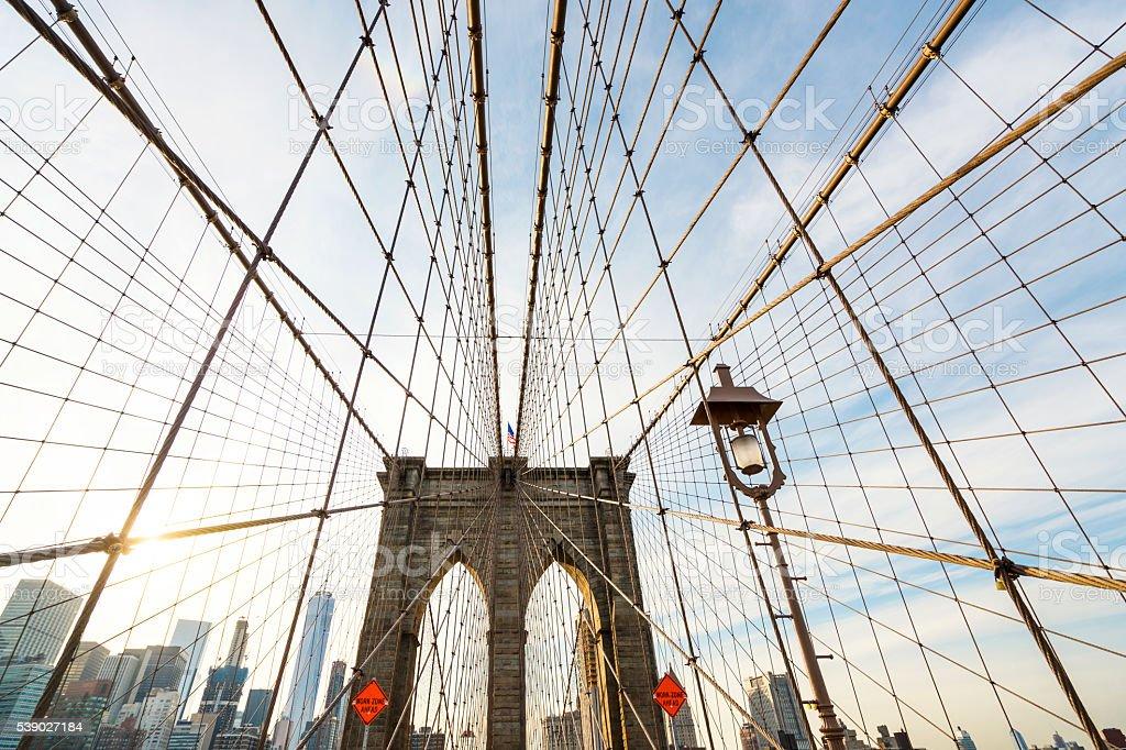Brooklyn Bridge New York stock photo