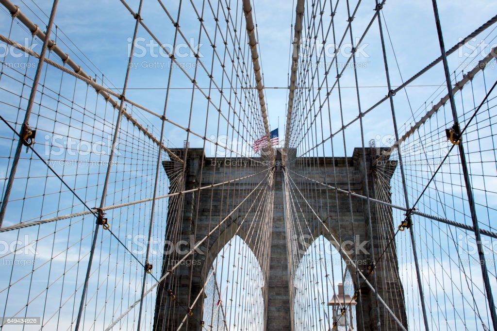 Brooklyn bridge - New York stock photo