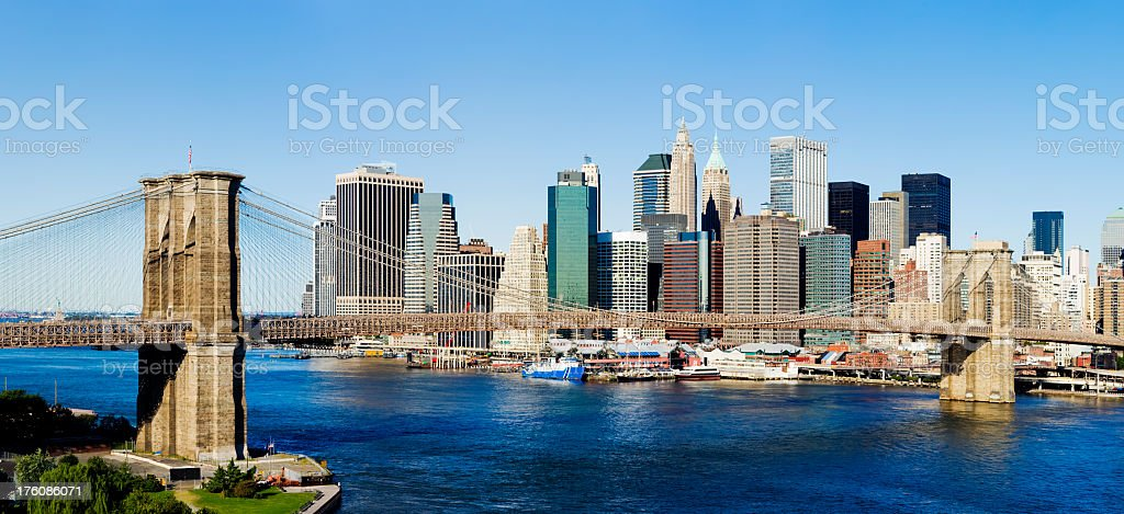 Brooklyn Bridge New York USA royalty-free stock photo