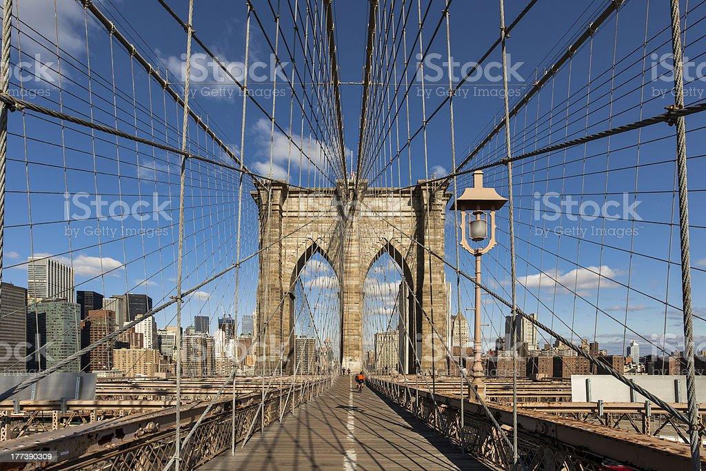 Brooklyn Bridge, New York, USA Lizenzfreies stock-foto