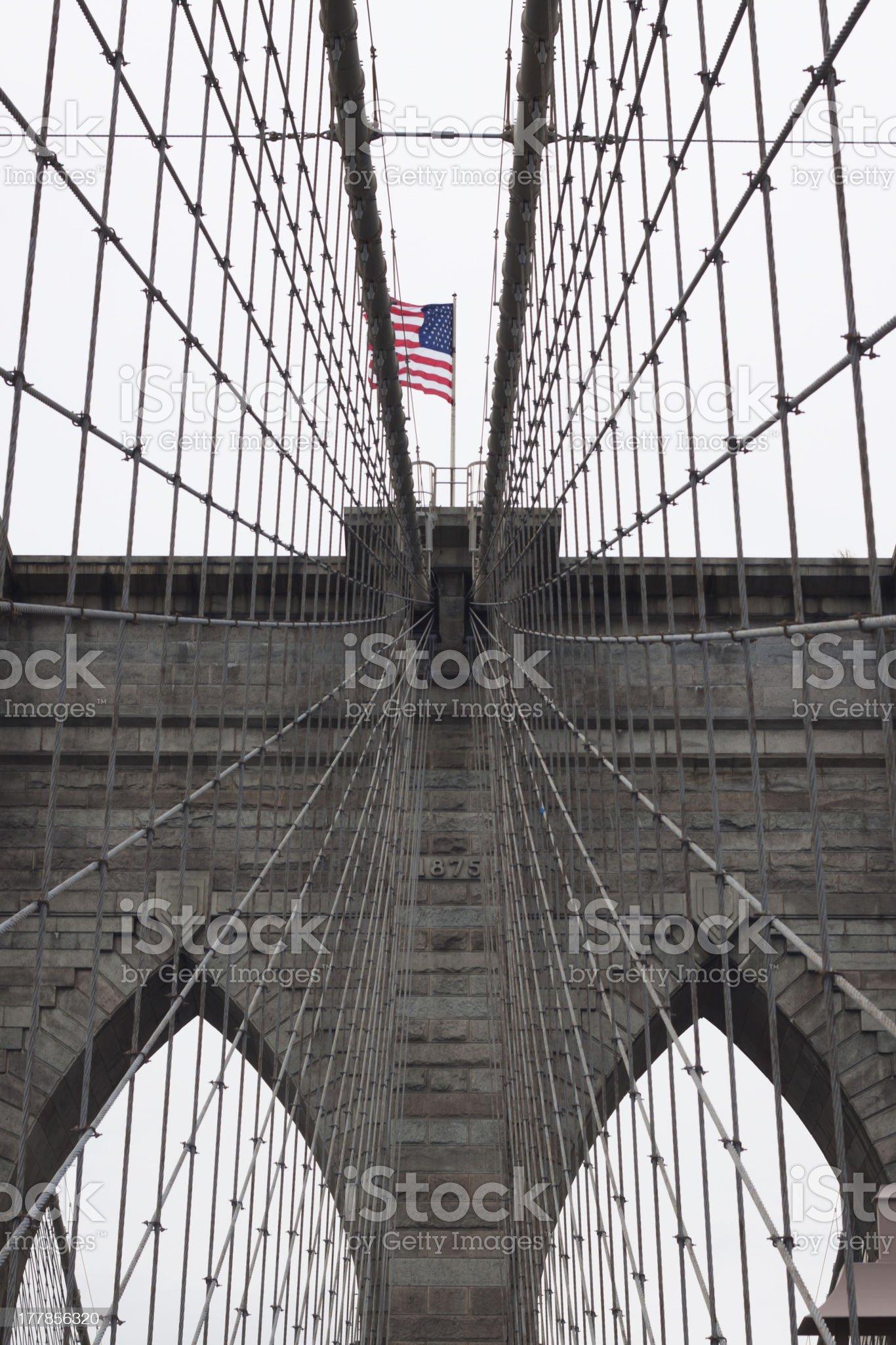 Brooklyn Bridge, New York, USA royalty-free stock photo