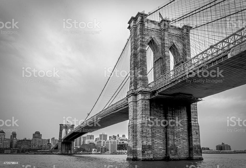 Brooklyn Bridge - North Side stock photo