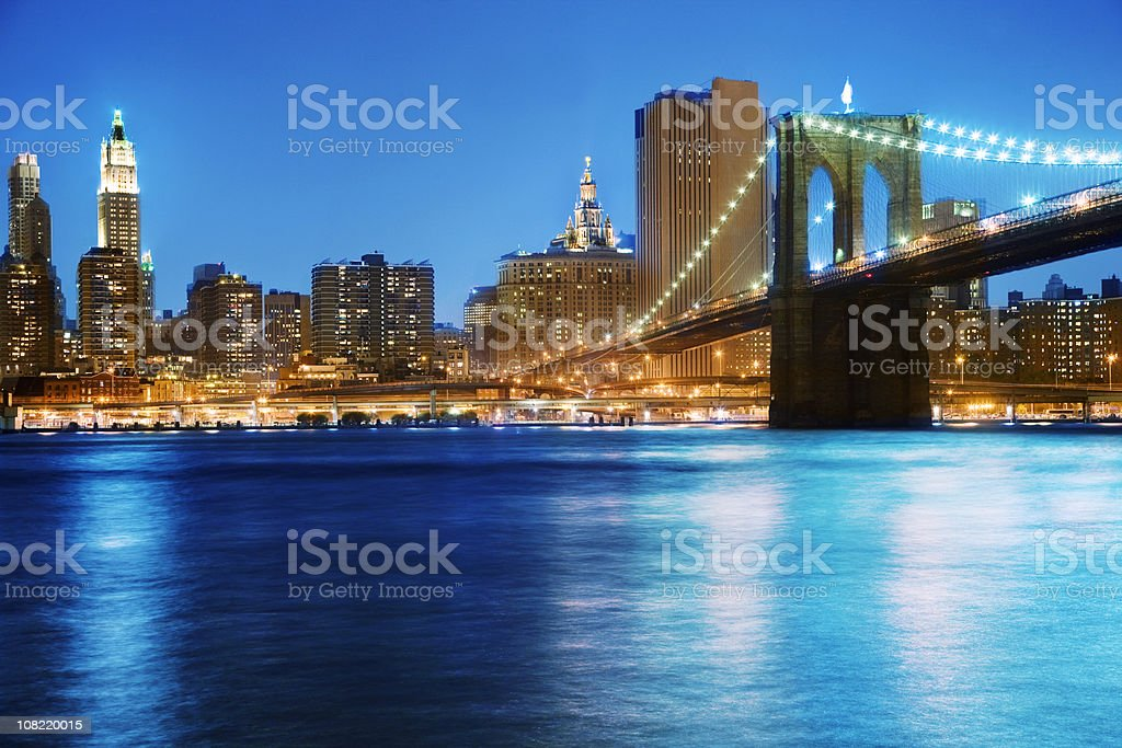 Brooklyn Bridge - NY royalty-free stock photo