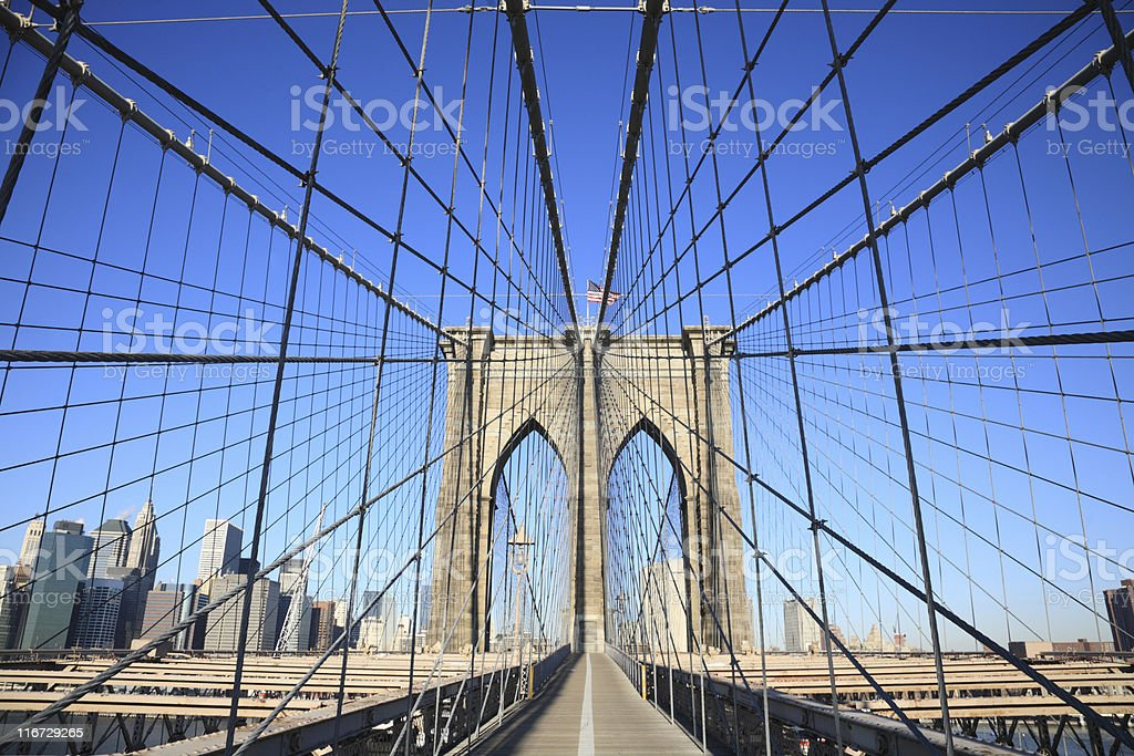 Brooklyn Bridge, NYC royalty-free stock photo