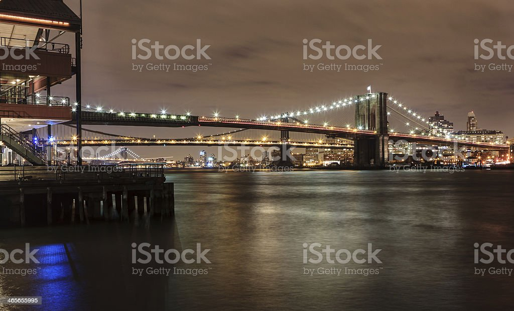 Brooklyn Bridge NYC royalty-free stock photo