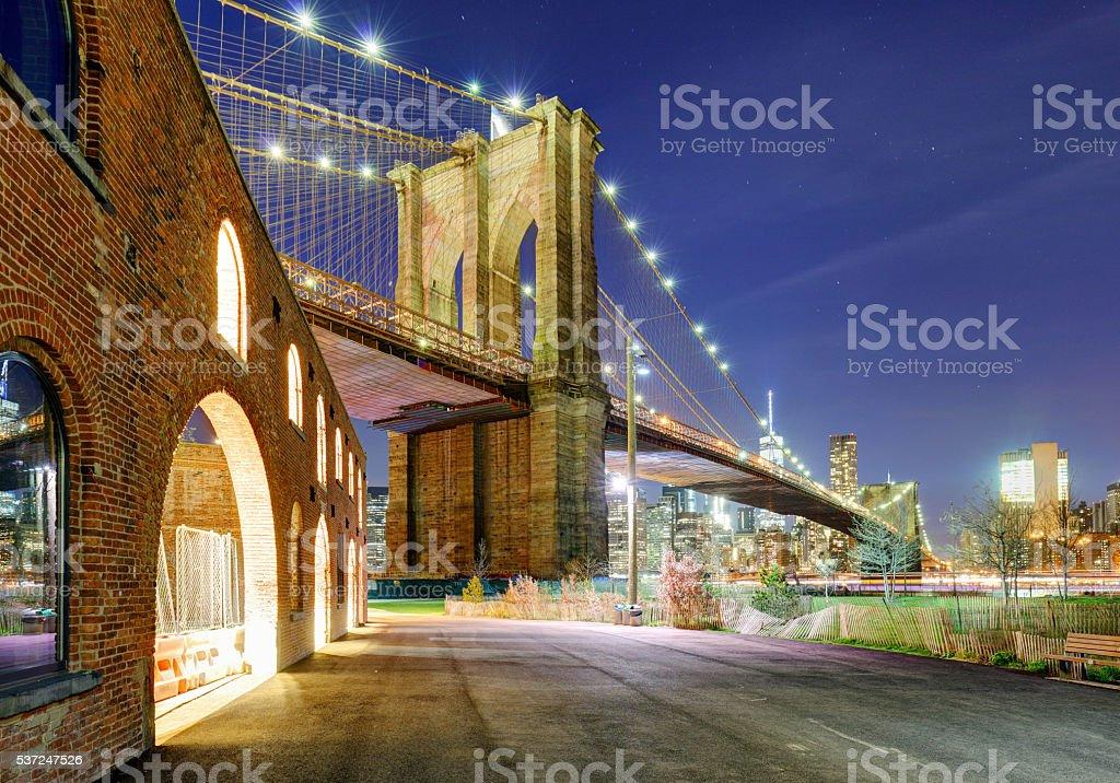 Brooklyn bridge, NYC stock photo