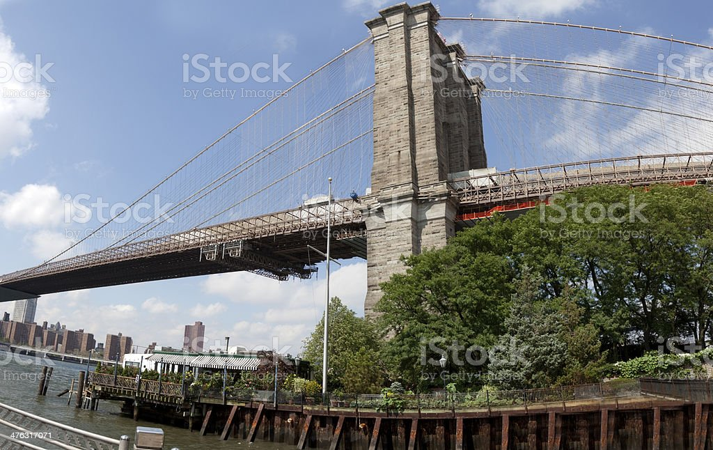 Brooklyn Bridge Panorama royalty-free stock photo