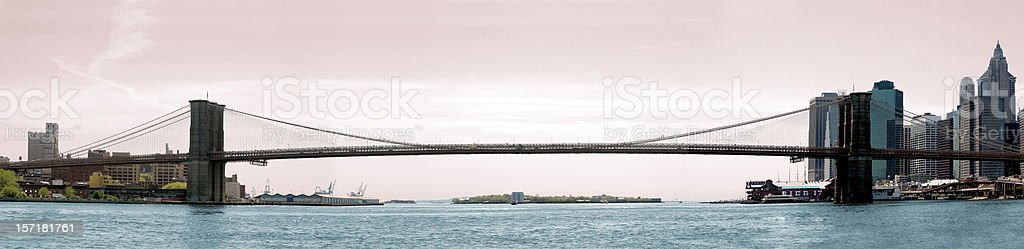 brooklyn bridge panoramic royalty-free stock photo