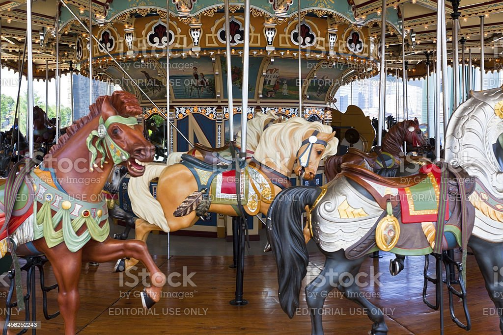 Brooklyn Bridge Park Carousel royalty-free stock photo